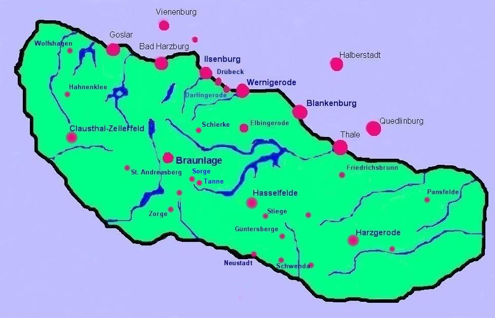 Suche harz karte urlaub for Hotel mit schwimmbad harz